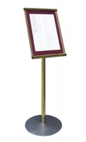Freestanding Athena Menu Case External Illuminated