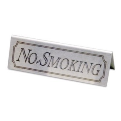 Stainless Steel No Smoking Signs Packprodisplays Co Uk
