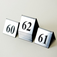 High Impact Acrylic Table Numbers Double Sided