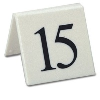 White Styrene Table Numbers