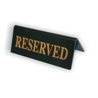 Black Plastic Table Signs