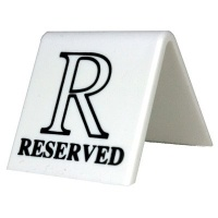 White Plastic Table Signs