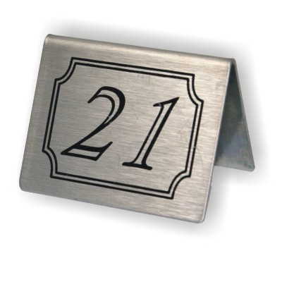 Stainless Steel Table Numbers Packprodisplayscouk - Stainless steel table numbers