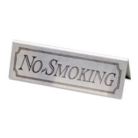 Stainless Steel No Smoking Signs