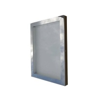 Polished Stainless Steel Menu Case Illuminated