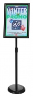 Snapframe Adjustable Lobby Stand Black