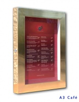 Brass Menu Case Illuminated
