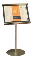 Freestanding Athena Menu Case Internal Illuminated