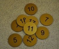 Brass Effect Table Discs