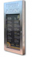 Brushed Stainless Steel Menu Case Illuminated