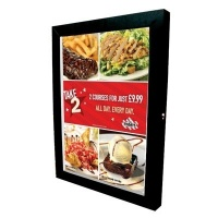 Black Menu Case Illuminated