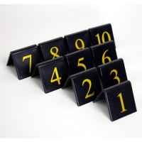 Black Styrene Table Numbers